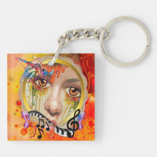 The Artist pallet Key Ring