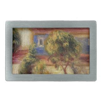 The Artist s House by Pierre-Auguste Renoir Rectangular Belt Buckle
