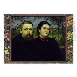 The Artist with his Wife Bonicella, 1887 Card