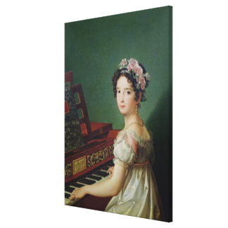 The Artist's Daughter at the Clavichord Canvas Prints