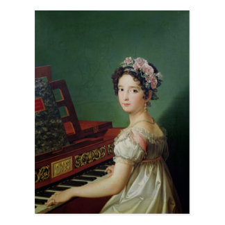 The Artist's Daughter at the Clavichord Postcard