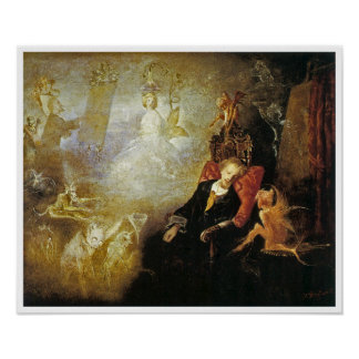 The Artist's Dream by John Anster Fitzgerald Poster