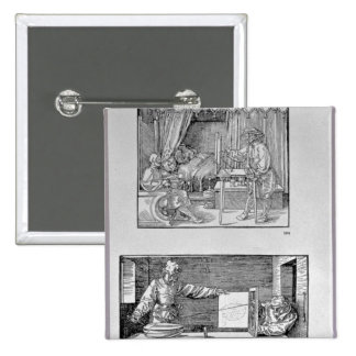 The artist's first technical book 15 cm square badge