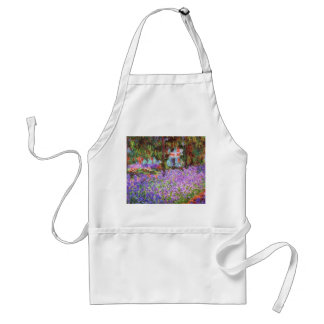 The Artist's Garden at Giverny by Monet Adult Apron