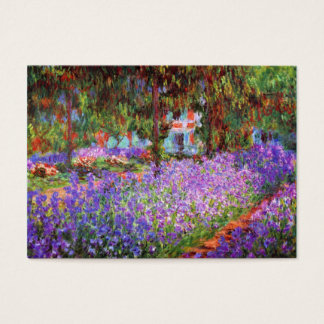 The Artist's Garden at Giverny by Monet Chubby Business Card