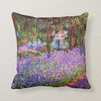 The Artist's Garden at Giverny by Monet Throw Pillow