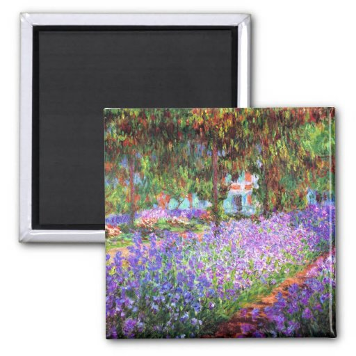 The Artist's Garden at Giverny, Claude Monet Fridge Magnets