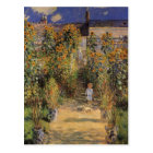 The Artist's Garden at Vetheuil by Claude Monet Postcard