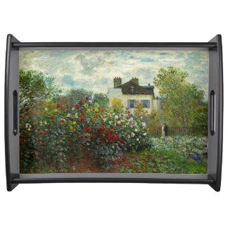 The Artist's Garden in Argenteuil 1873 (Monet) Serving Tray
