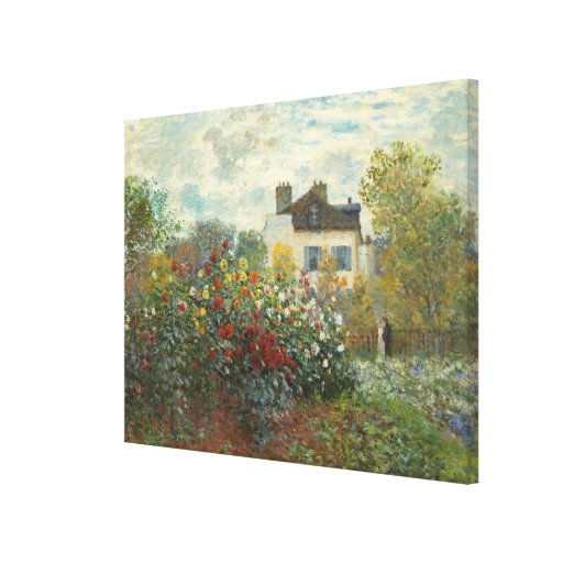 The Artist's Garden in Argenteuil Stretched Canvas Print