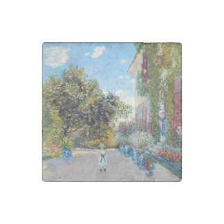 The Artist's house at Argenteuil by Claude Monet Stone Magnet