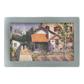 The Artist's House at Yerres by Gustave Caillebott Belt Buckles
