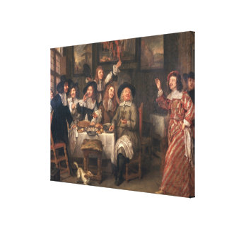 The Artists' Meal Canvas Print