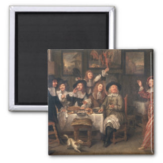 The Artists' Meal Square Magnet
