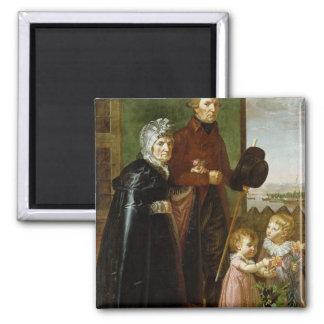 The Artist's Parents, 1806 Square Magnet