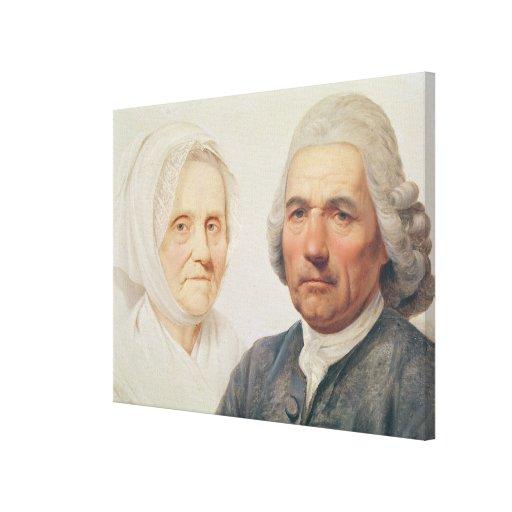 The artist's parents (oil on canvas) canvas prints