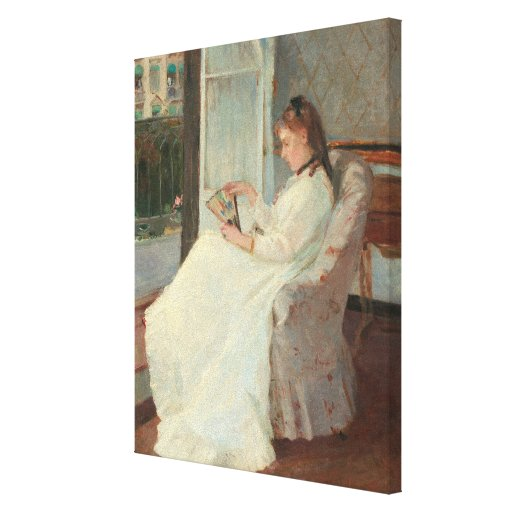 The Artist's Sister at a Window, 1869 Canvas Print