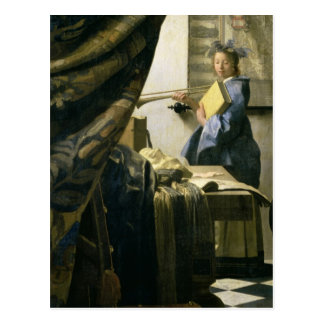 The Artist's Studio, c.1665-6 Postcard