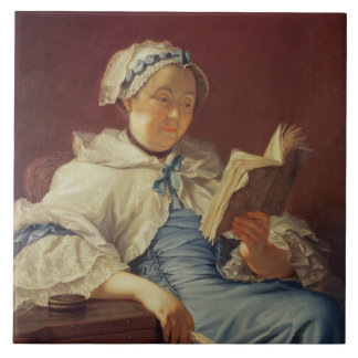 The artist's wife, 1758 (oil on canvas) large square tile