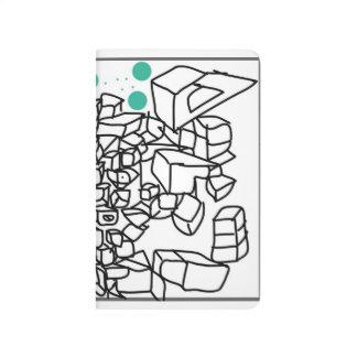 the artwork for a pocket journal