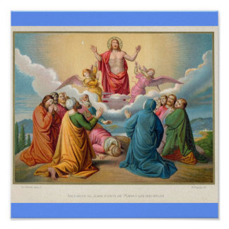 The ascension of Jesus 1879 Poster