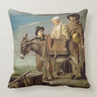 The Ass (oil on canvas) Throw Pillows