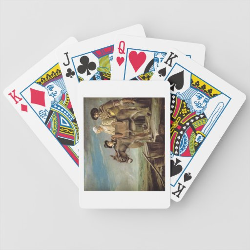 The Ass (oil on canvas) Poker Deck