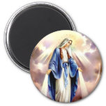The Assumption of Mary 6 Cm Round Magnet