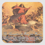 The Assumption of Mary into Heaven I Square Sticker
