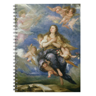The Assumption of Mary Magdalene (oil on canvas) Notebook