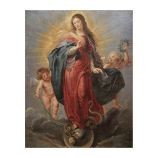 The Assumption of The Blessed Virgin Mary Wood Print