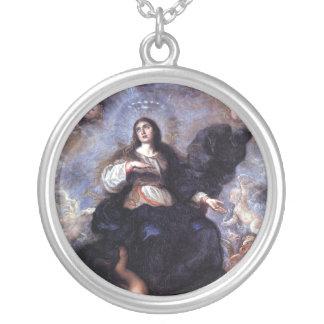 The Assumption the Virgin Round Pendant Necklace