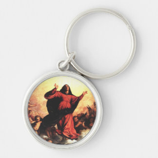 The Assumption the Virgin Silver-Colored Round Key Ring