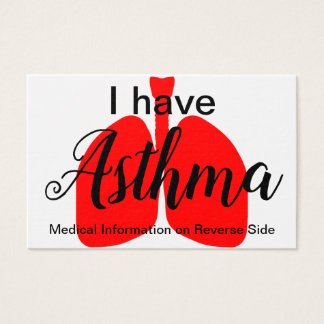 The Asthma Medical ID Wallet Card