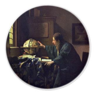 The Astronomer by Johannes Vermeer Ceramic Knob