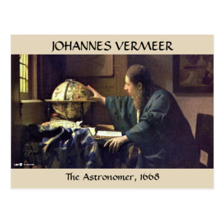 THE ASTRONOMER, Johannes Vermeer, 1668 Postcard