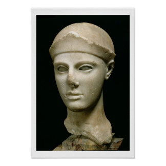 The Athena of Aegina, wearing a helmet, head of a Poster