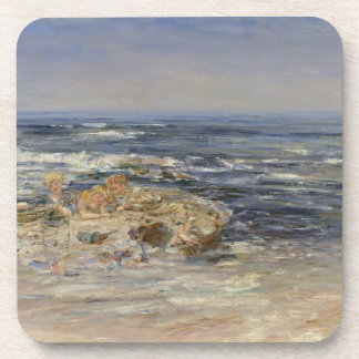 The Atlantic Surf, 1899 (oil on canvas) Beverage Coasters