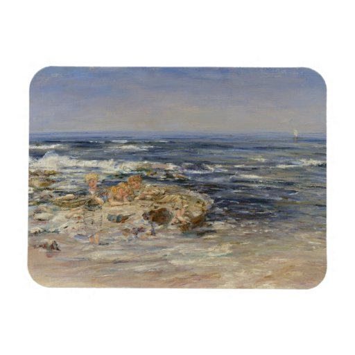 The Atlantic Surf, 1899 (oil on canvas) Magnets