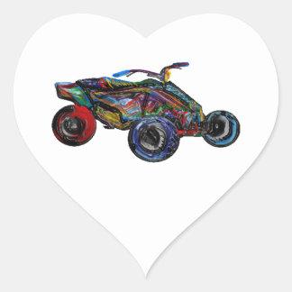 THE ATV EDGE HEART STICKER