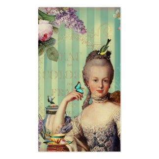 Thé au Petit Trianon on ivory with roses and lilac Pack Of Standard Business Cards