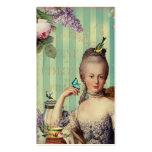 Thé au Petit Trianon on ivory with teapot Business Card Template