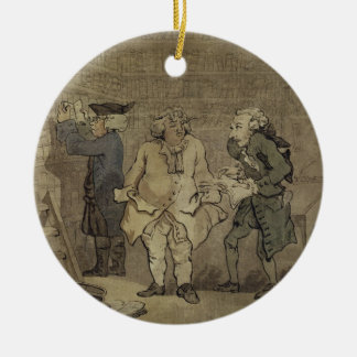 The Author and his Publisher, 1784 (grey wash and Ceramic Ornament