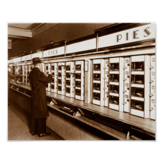 The Automat New York History Vintage Image 1935 Poster