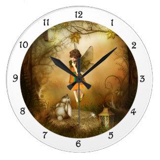 The Autumn Fairy Wall Clock