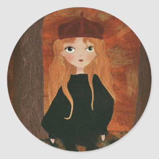 """The Autumn Girl"" Sticker"