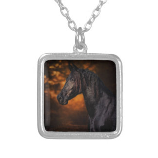 The Autumn Stallion Silver Plated Necklace