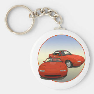 The Avenue Art Red Sports Car Basic Round Button Key Ring