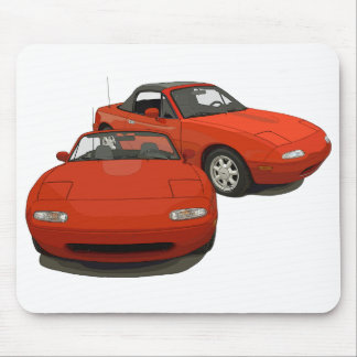 The Avenue Art Red Sports Car Mouse Pad
