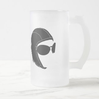 The Aviator Frosted Glass Beer Mug